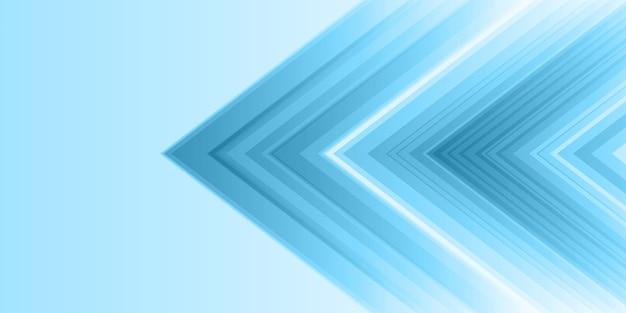 Bannière abstraite avec un style moderne Vecteur gratuit