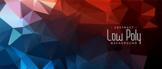 Bannière Abstraite Triangulaire Low Poly En Deux Couleurs Vecteur gratuit