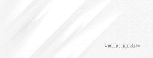 Bannière Abstraite Avec Vecteur De Lignes Ondulées Brillantes Vecteur gratuit
