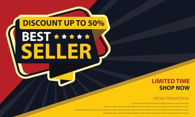 Bannière best seller Vecteur Premium