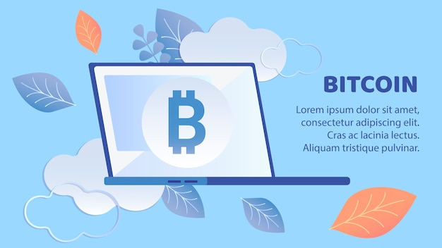 Bannière bitcoin Vecteur Premium
