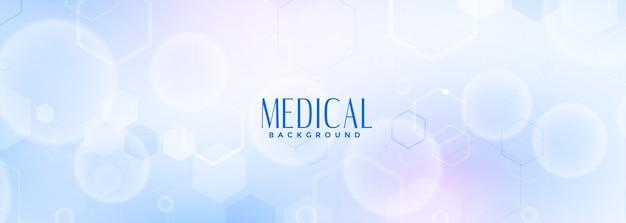 Bannière Bleue Des Sciences Médicales Et Des Soins De Santé Vecteur gratuit