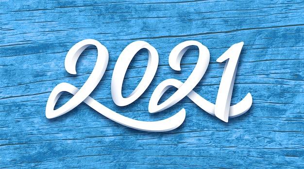 Bannière De Bonne Année 2021 Vecteur Premium