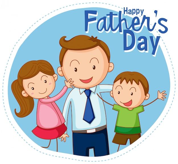 Une bannière de bonne fête des pères Vecteur gratuit