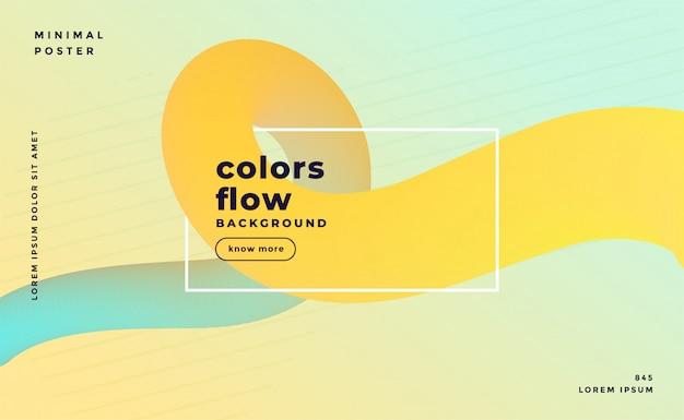 Bannière de boucle fluide abstrait couleur pastel doux Vecteur gratuit