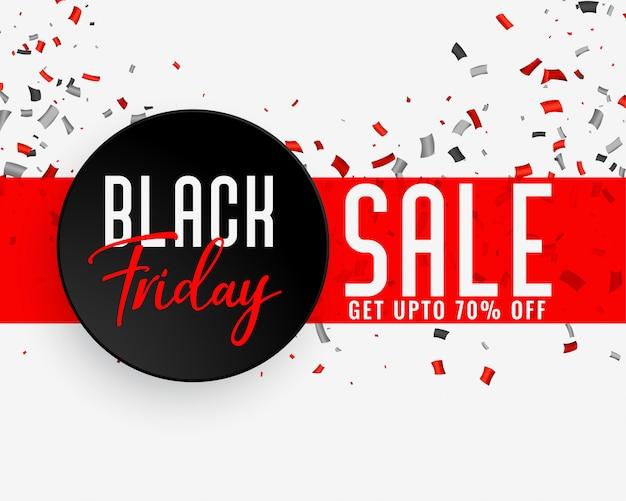 Bannière de célébration vente vendredi noir Vecteur gratuit