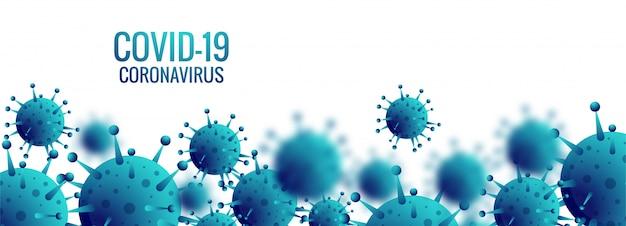 Bannière De Cellules De Coronavirus Vecteur gratuit