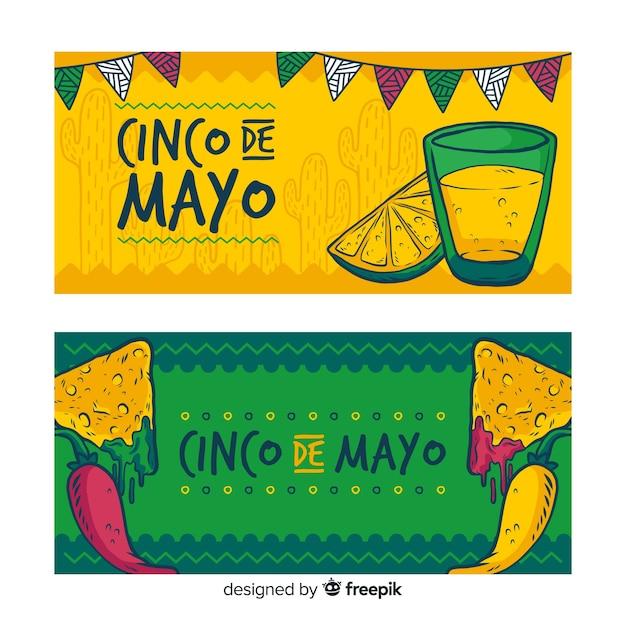 Bannière De Cinco De Mayo Vecteur gratuit