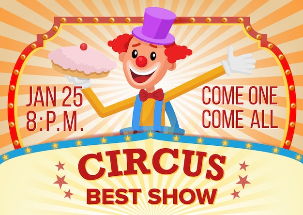 Bannière De Clown De Cirque Vide. Vecteur Premium