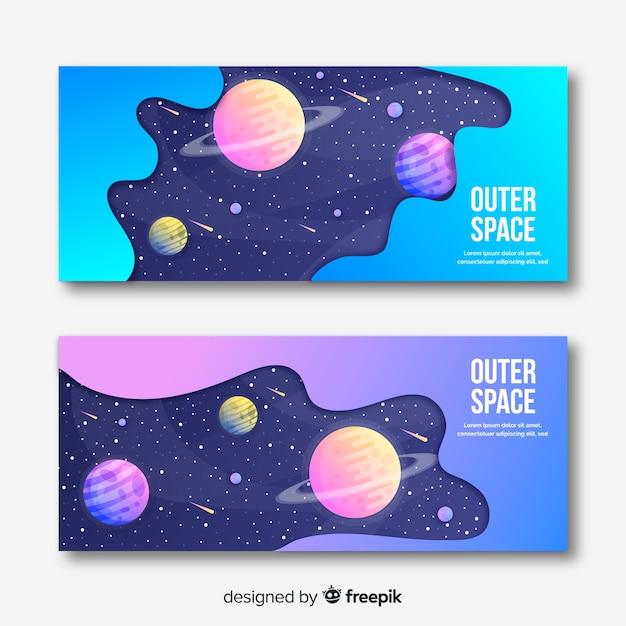 Bannière Colorée De L'espace Vecteur gratuit