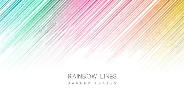 Bannière colorée Vecteur gratuit