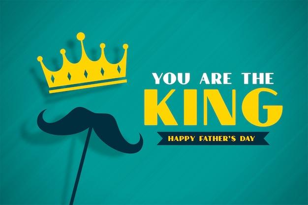 Bannière De Concept De Fête Des Pères Avec Couronne Vecteur gratuit