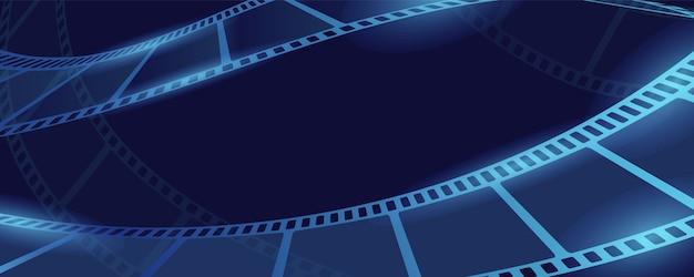 Bannière De Concept De Film Film, Style Cartoon Vecteur Premium