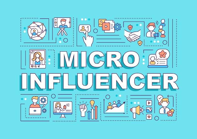 Bannière De Concepts De Mot Micro Influencers Vecteur Premium