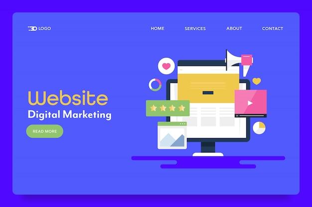Bannière Conceptuelle De Marketing De Site Web Vecteur Premium