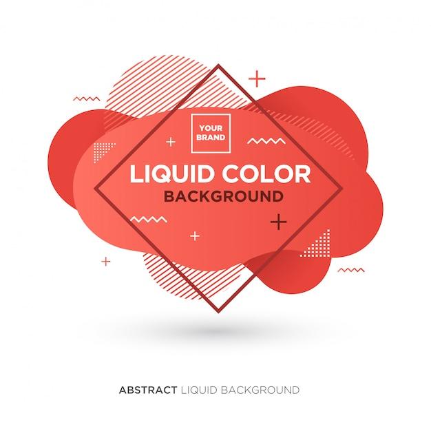 Bannière de couleur corail abstraite liquid living Vecteur Premium