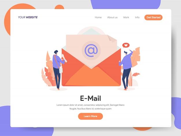 Bannière de courrier électronique de la page de destination Vecteur Premium
