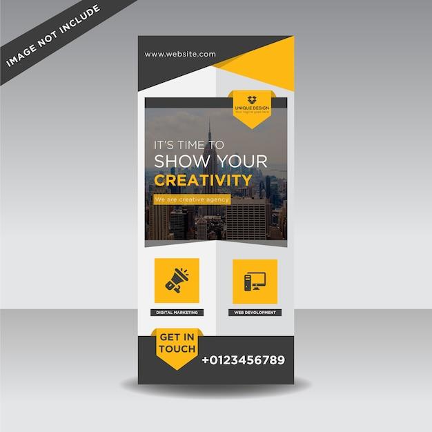 Bannière créative Vecteur Premium