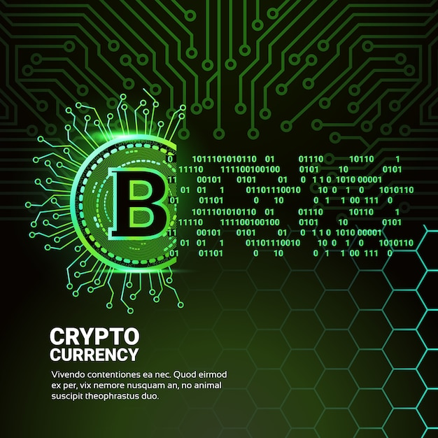 Bannière crypto currency Vecteur Premium