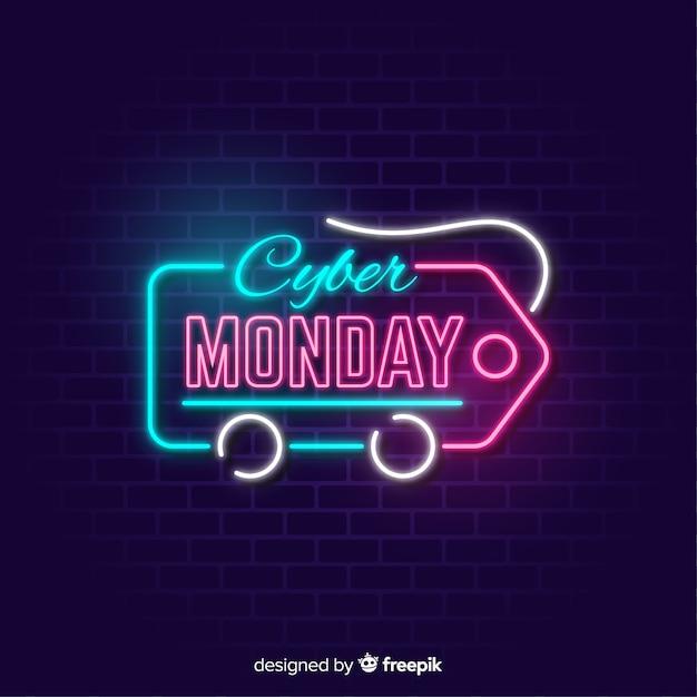 Bannière cyber lundi avec étiquette de prix Vecteur gratuit