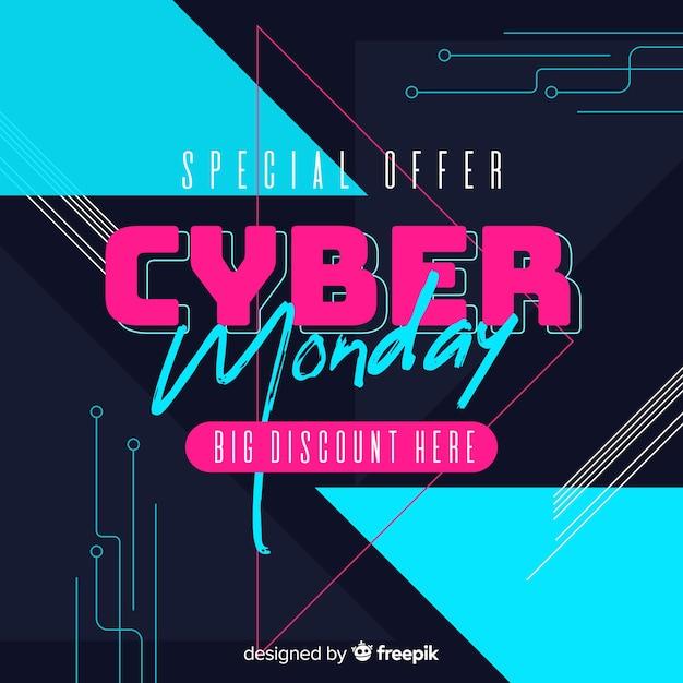 Bannière cyber lundi Vecteur gratuit