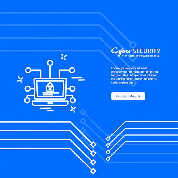 Bannière cyber security Vecteur gratuit