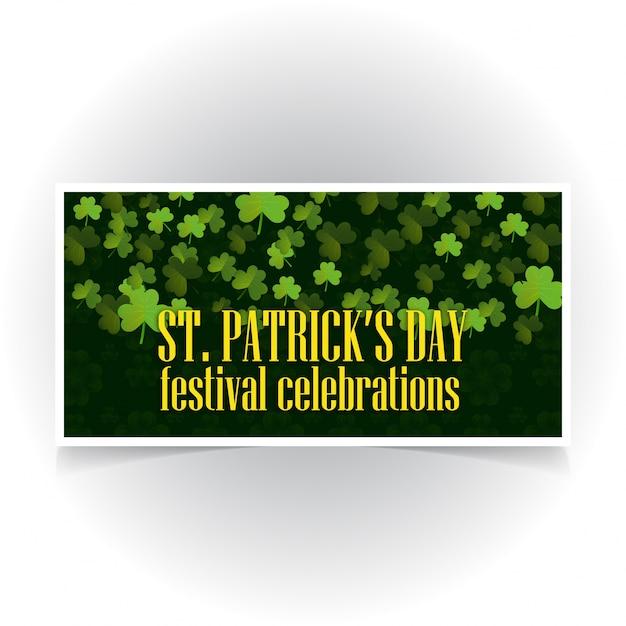 Bannière de St Patrick avec fond sombre Vecteur gratuit