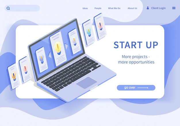Bannière démarrer plus de projets plus d'opportunités. Vecteur Premium