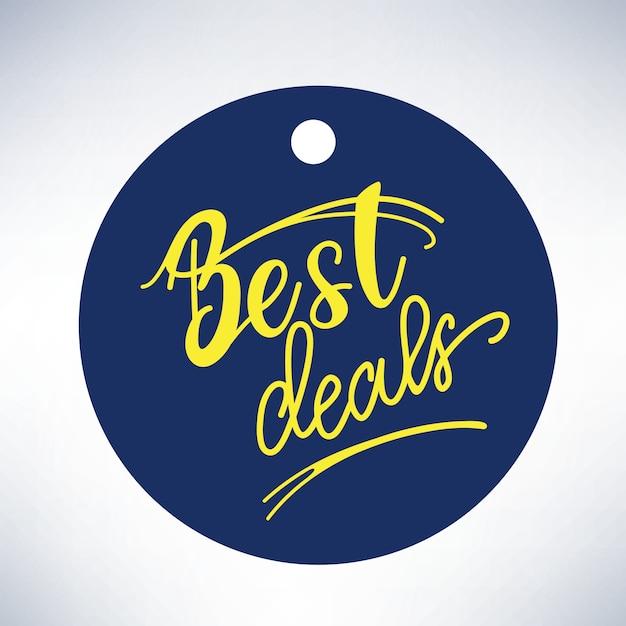Bannière design avec lettrage meilleures offres. illustration vectorielle Vecteur Premium