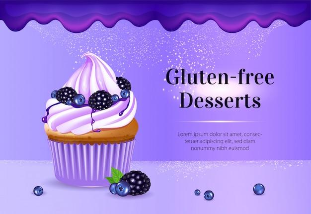 Bannière De Desserts Sans Gluten Vecteur Premium