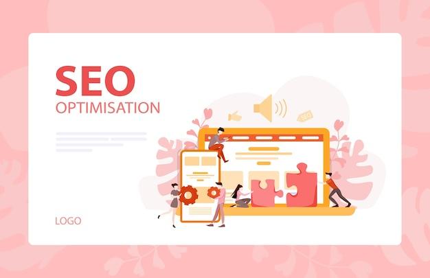 Bannière De Développement De Site Web. Programmation De Pages Web Et Création D'interface Réactive Sur Ordinateur. Illustration Vecteur Premium