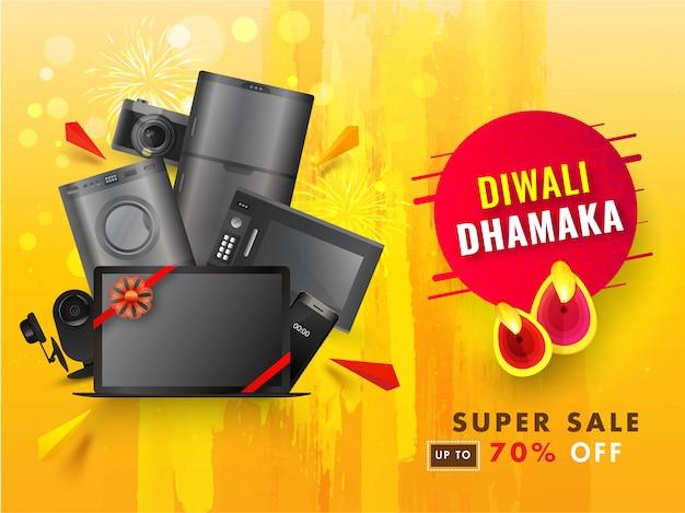 Bannière Diwali Sale Vecteur Premium