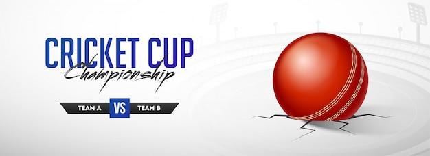 Bannière du championnat de la coupe de cricket. Vecteur Premium