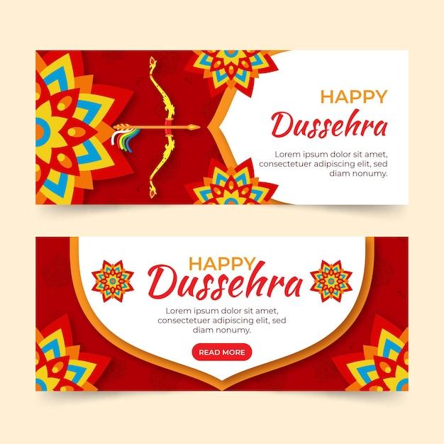 Bannière Du Festival Dussehra Vecteur gratuit