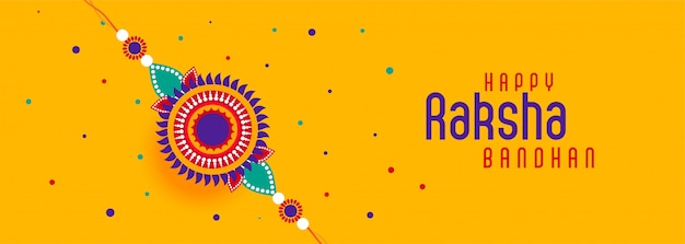 Bannière du festival joyeux raksha bandhan Vecteur gratuit