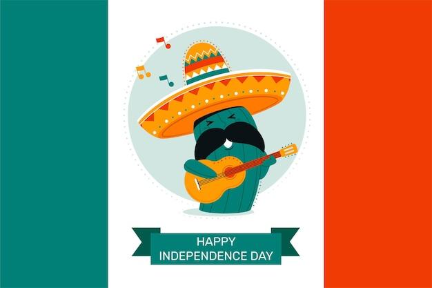 Bannière Du Jour De L'indépendance Du Mexique Vecteur gratuit