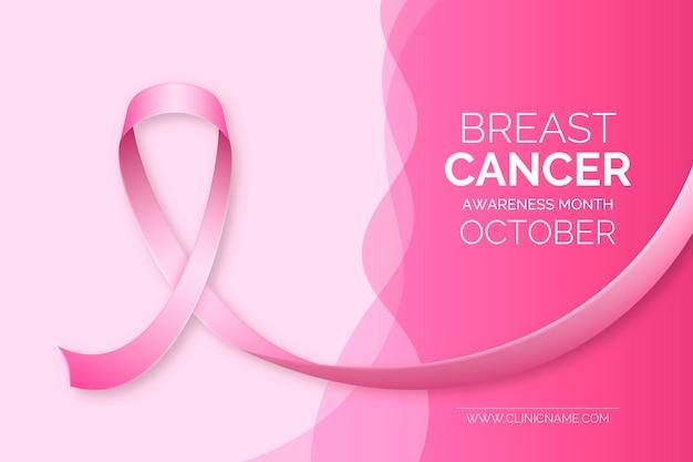 Bannière Du Mois De Sensibilisation Au Cancer Du Sein Vecteur gratuit