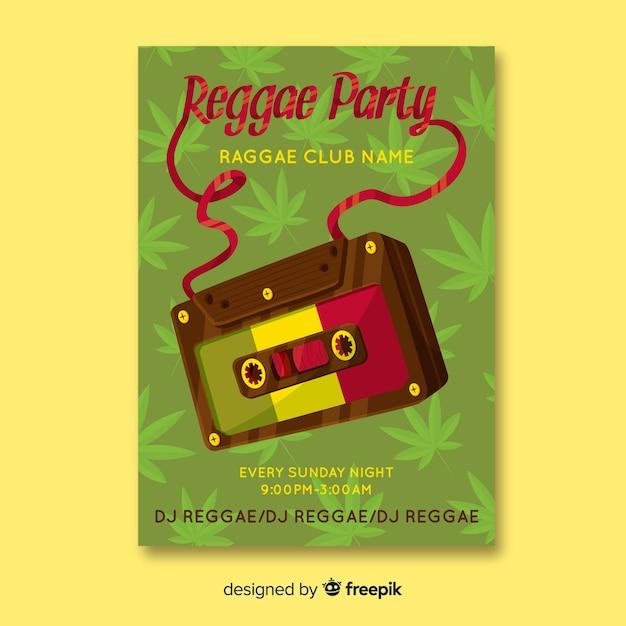 Bannière du parti reggae Vecteur gratuit