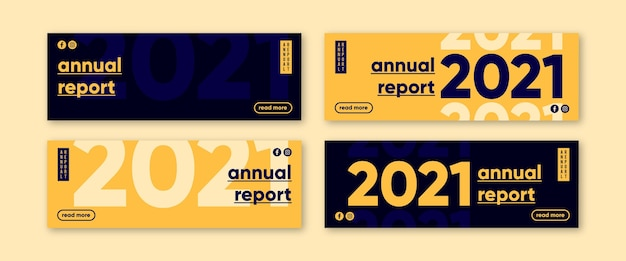 Bannière Du Rapport Annuel Vecteur gratuit