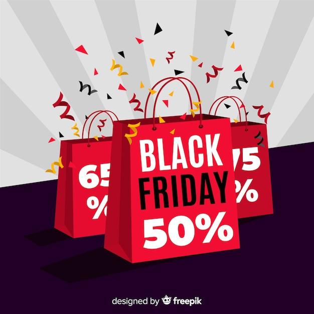 Bannière du vendredi noir design plat Vecteur gratuit