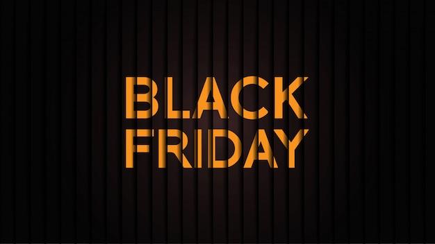 Bannière du vendredi noir minimaliste Vecteur Premium