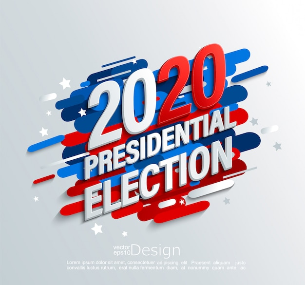 Bannière de l'élection présidentielle américaine de 2020 Vecteur Premium