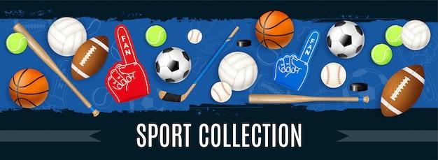 Bannière D'équipement De Sport Vecteur gratuit