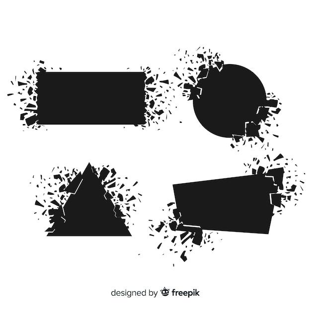 Bannière Explosive De Forme Géométrique Vecteur gratuit