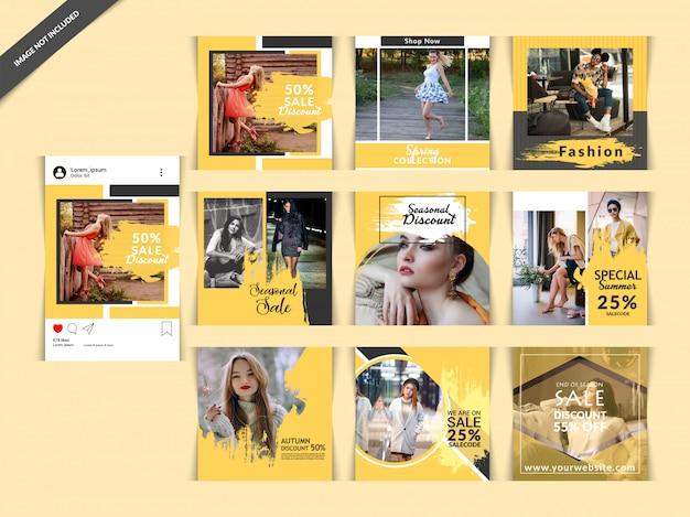 Bannière fashion web pour les médias sociaux Vecteur Premium