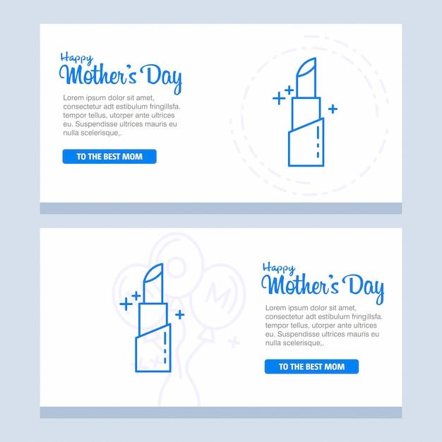 Bannière de la fête des mères heureux Vecteur gratuit