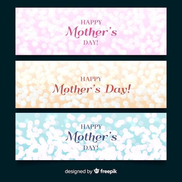 Bannière de fête des mères Vecteur gratuit