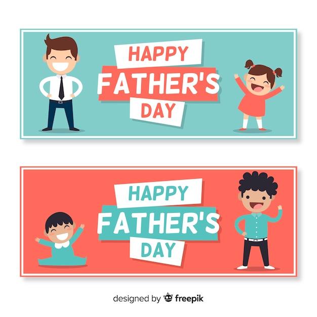 Bannière de la fête des pères Vecteur gratuit