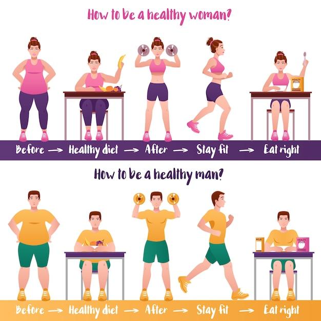 Bannière fitness Vecteur gratuit