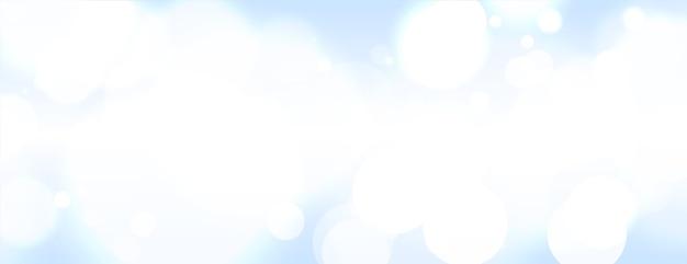 Bannière Floue Abstraite Bokeh Sur Fond De Ciel Clair Vecteur gratuit